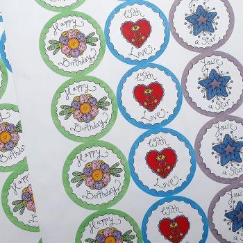 Pretty stickers/Envelope Seals