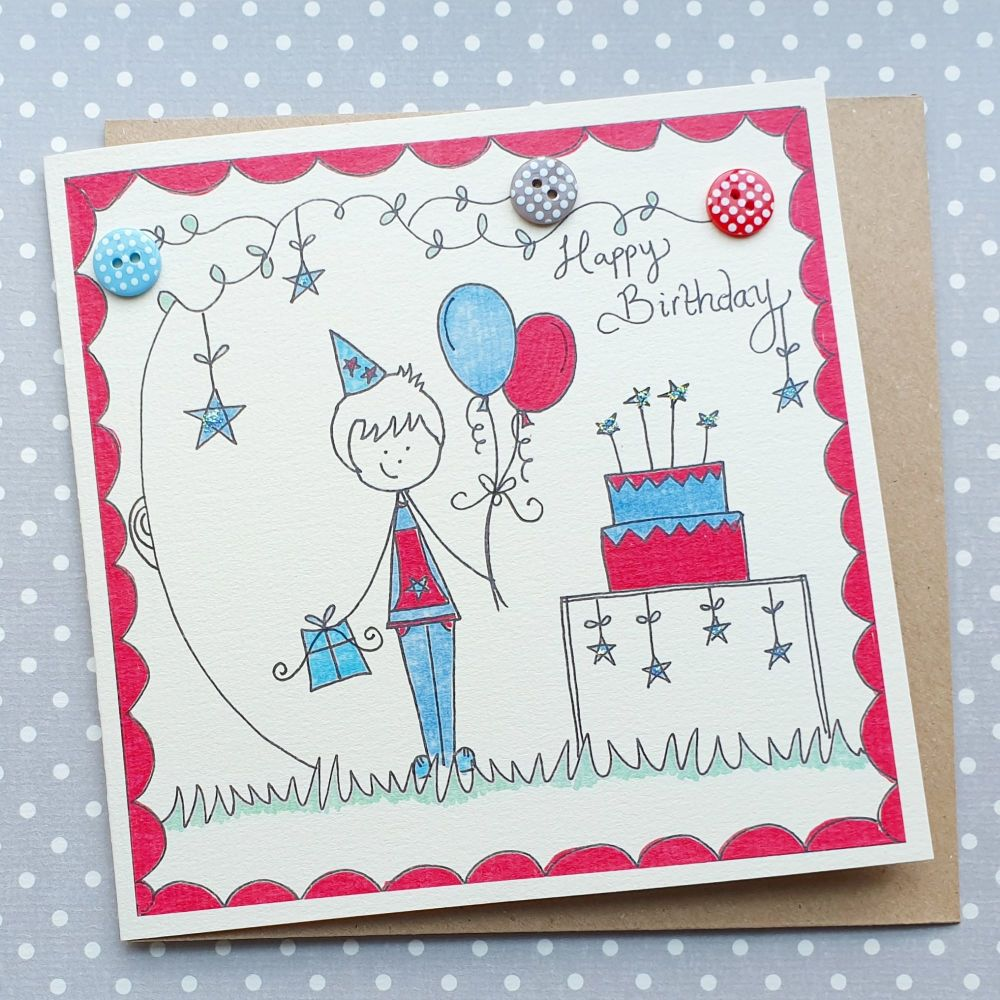 Birthday Boy and Balloons