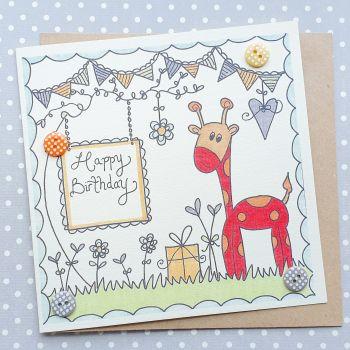 Jolly Giraffe Card