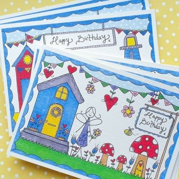 Fairy and Seaside Mixed Pack of 6 Cards