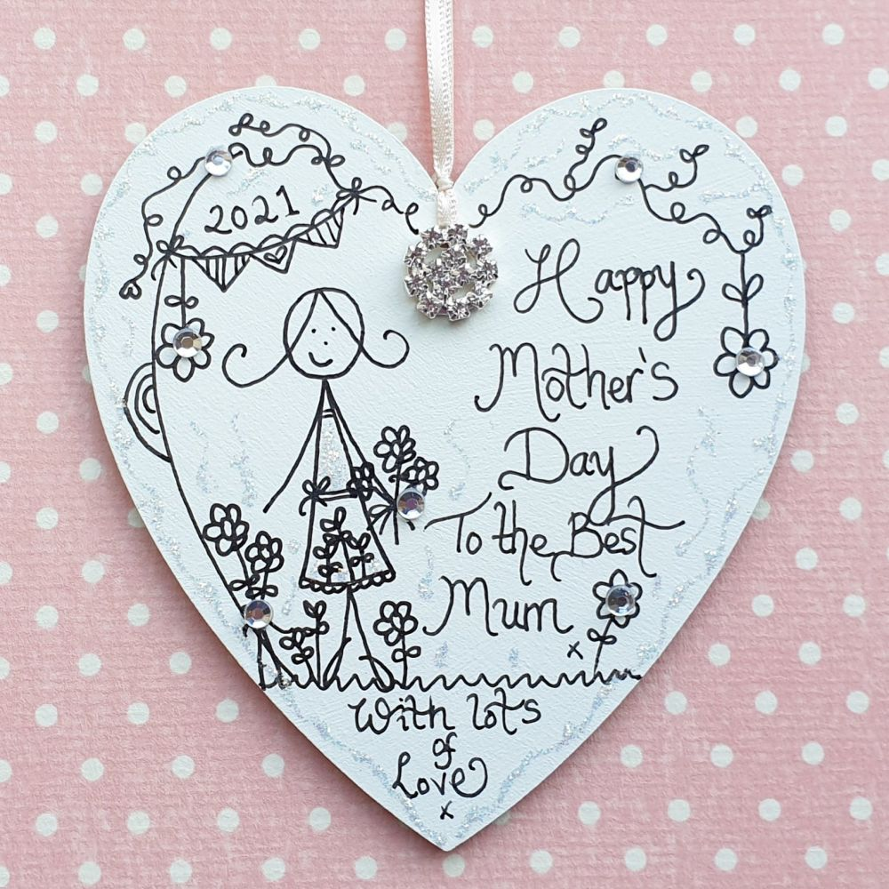 Sparkle Mother's Day Heart