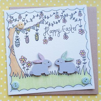 Bunnies under the Easter Tree