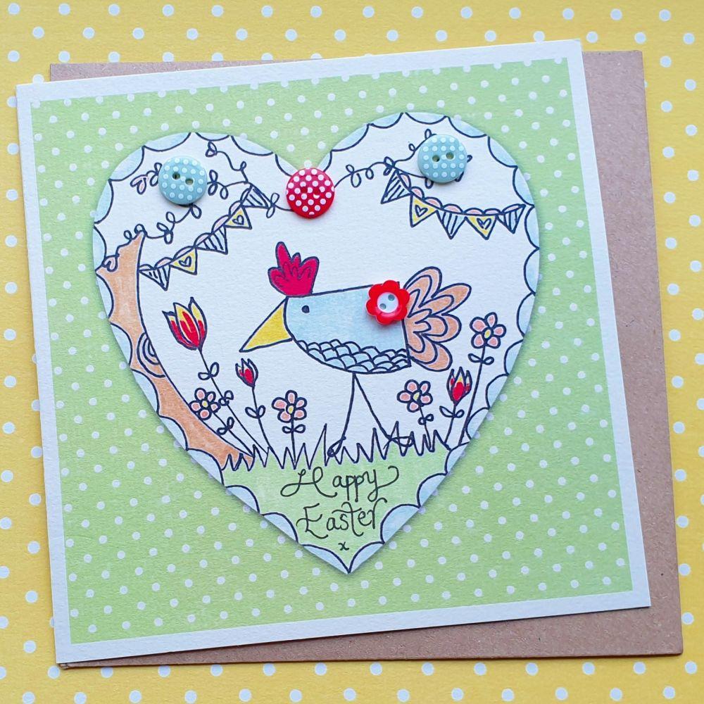 Chick  in a Heart Garden
