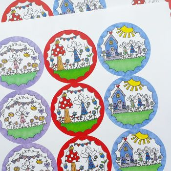 Set of Fairy themed  pretty stickers/Envelope Seals