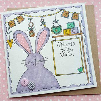 Baby Girl Bunny and Bunting