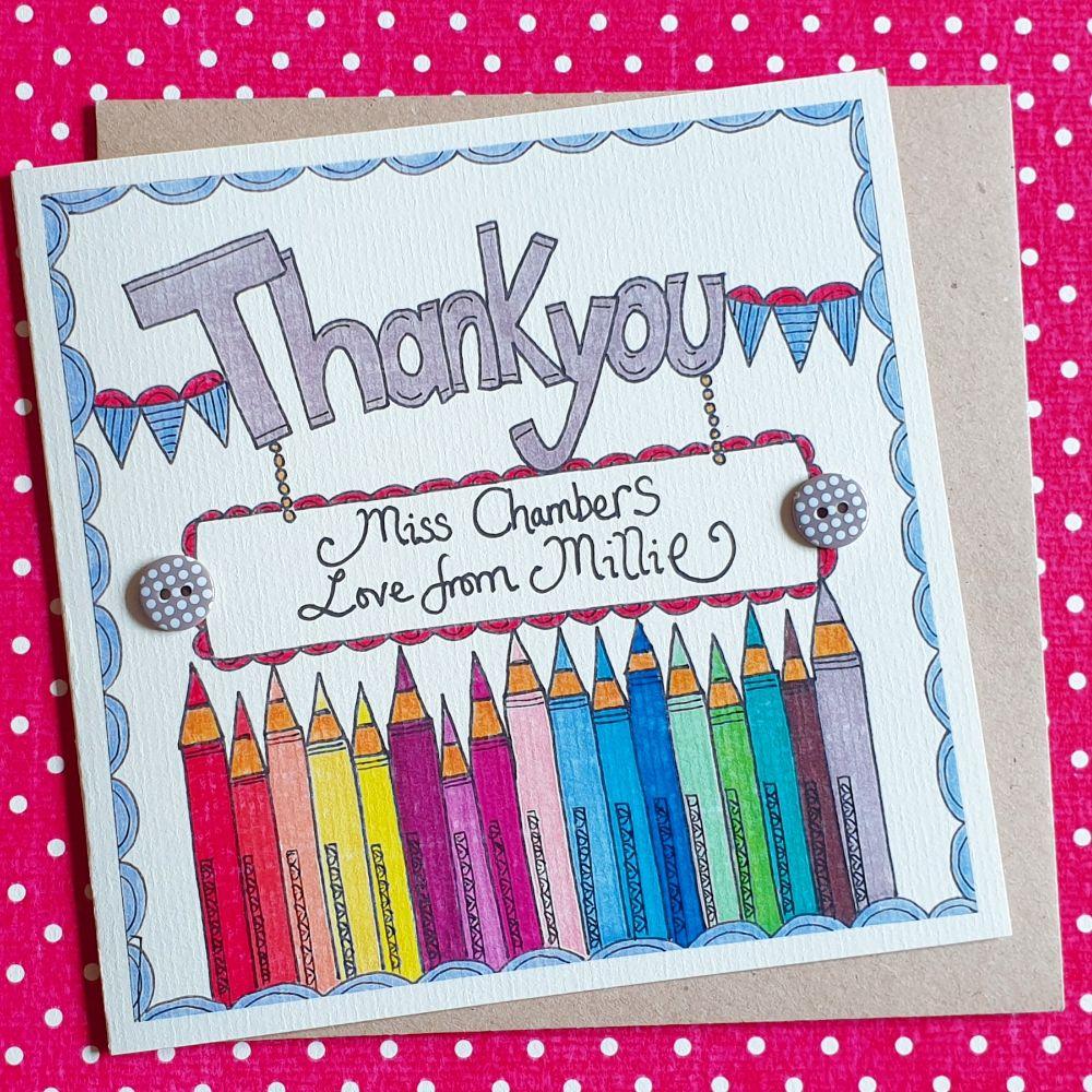 Thankyou Teacher  Cards  and Keepsake Gifts