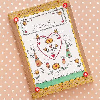 Folky Fairy Heart Notebook