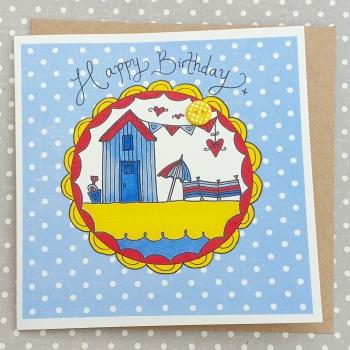 Happy birthday beach hut