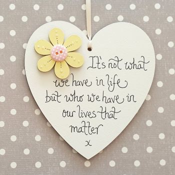 Who we have in our lives that matters