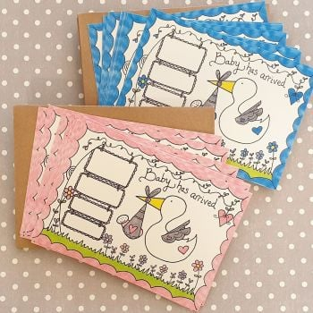 Baby Has Arrived...Pack of 10 Announcement Cards