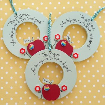 Apple and Red Flower Mini Wreath