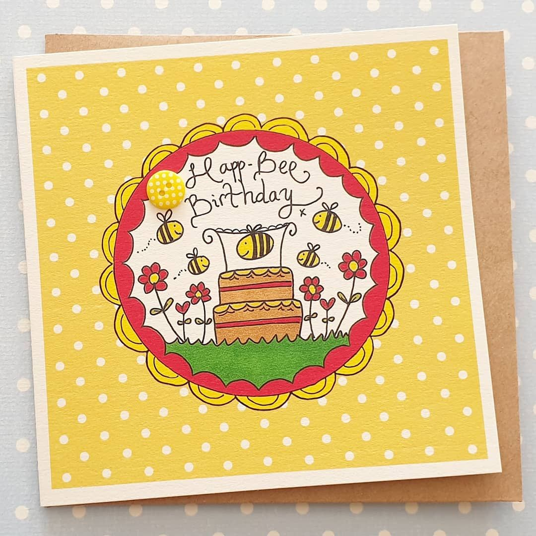Happ-bee Birthday Cake and Bee