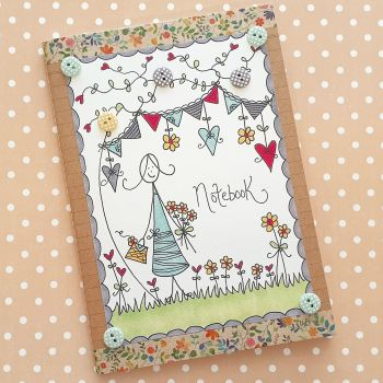 Classy Lady with Flowers Notebook