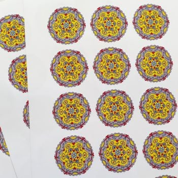 Quirky Kaleidoscope Stickers