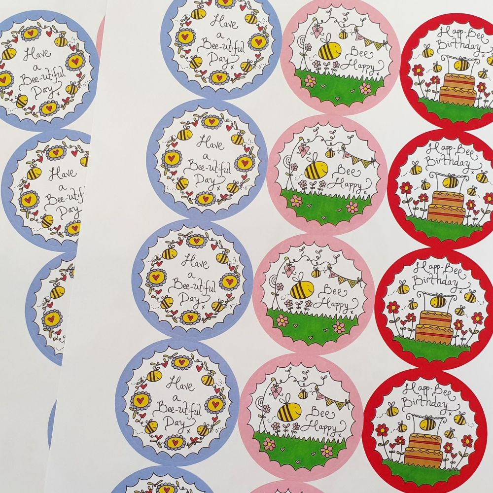Buzzy Bee Stickers