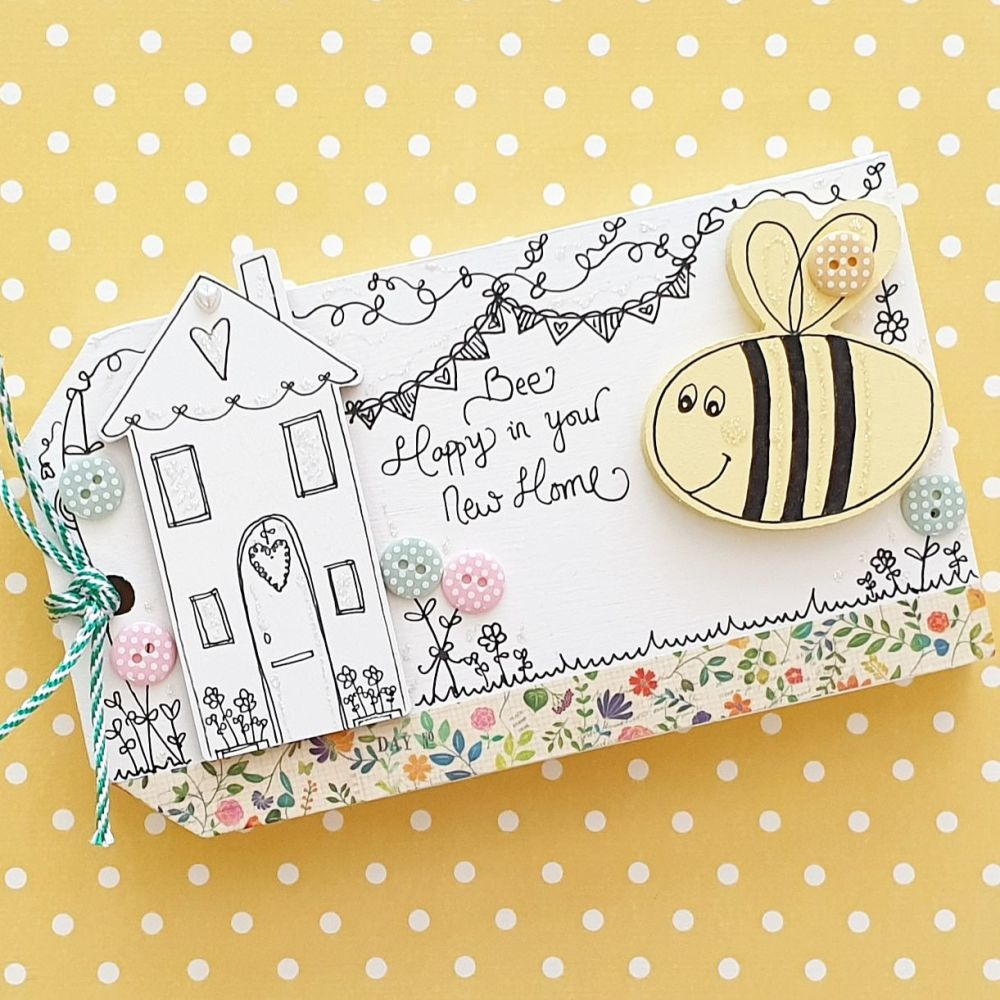 Bee Happy in your New Home with Flowers and Bunting