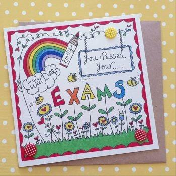 Rainbow and Pencil Congratulations