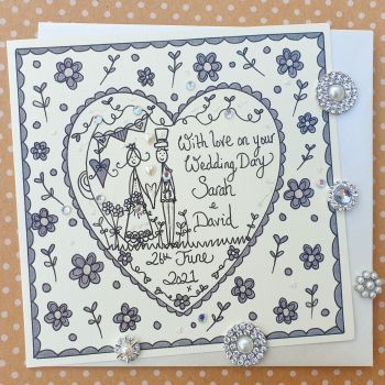 Classic Bride and Groom in a heart