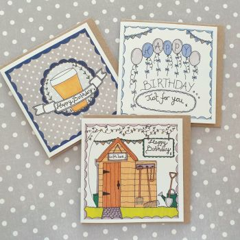 Male Birthday Card Pack