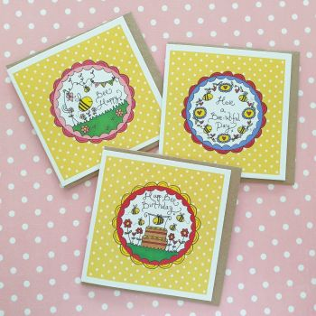 Buzzy Bee Card Pack