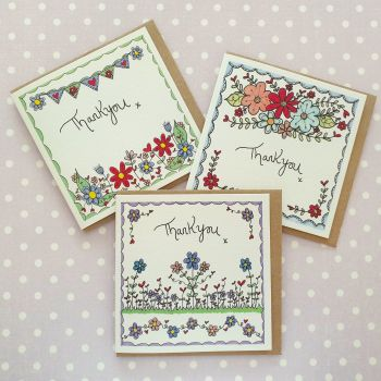 Floral Thankyou Card Pack