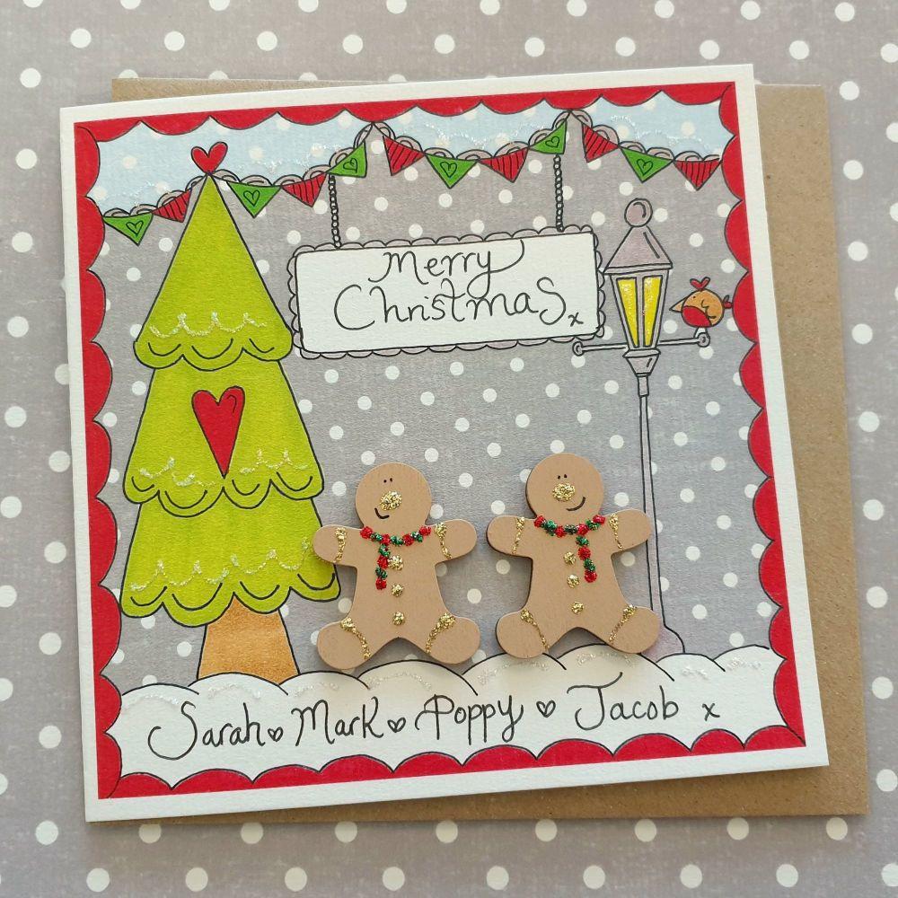 Two cute Gingerbread Christmas Scene