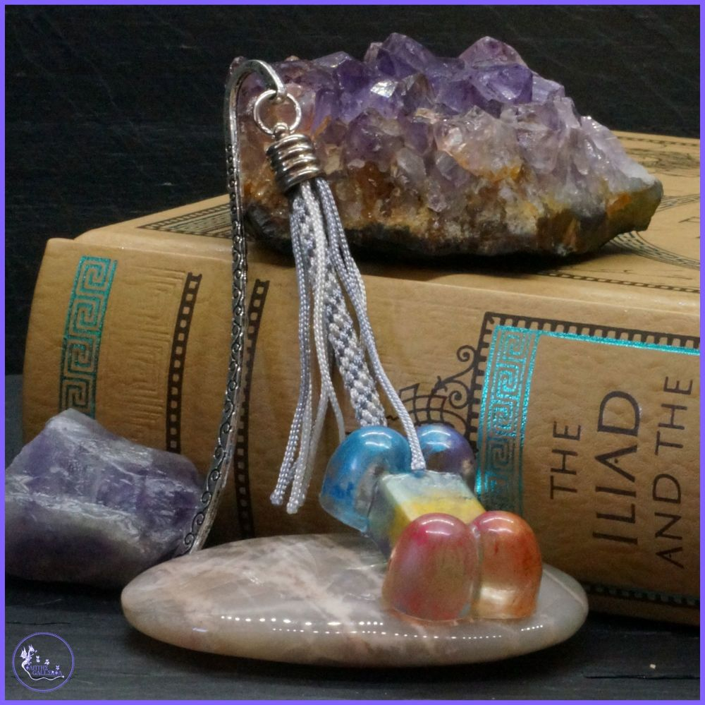 Rainbow Resin Bone Bookmark.