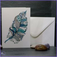 Feather in Blues Card.
