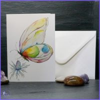 Butterfly and Eryngium Card.
