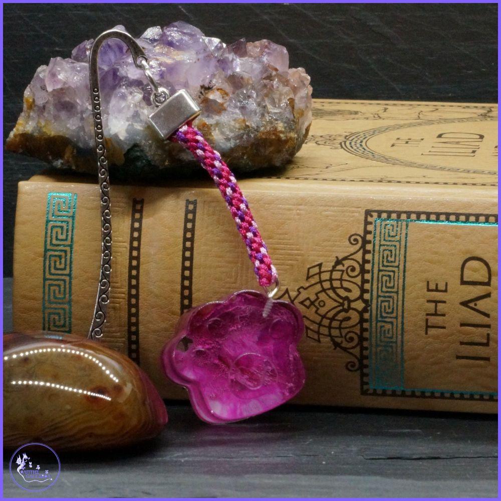 Raspberry Pink Paw Bookmark.