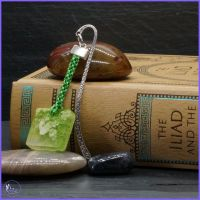 Lime Green Resin Square Counterweight Bookmark