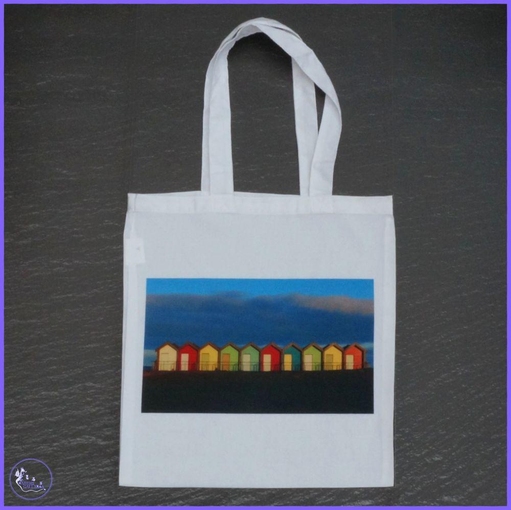 Blyth Beach Huts Tote Bag.