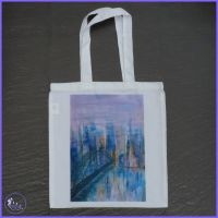 Cityscape Bridge Tote Bag.