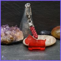 Red Scottie Dog Keyring or Bag Charm.