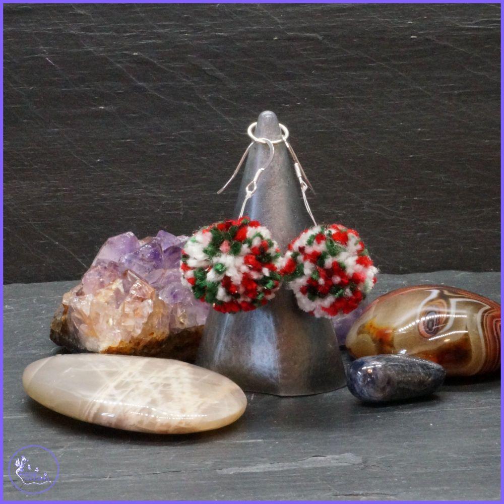 Christmas PomPom Earrings