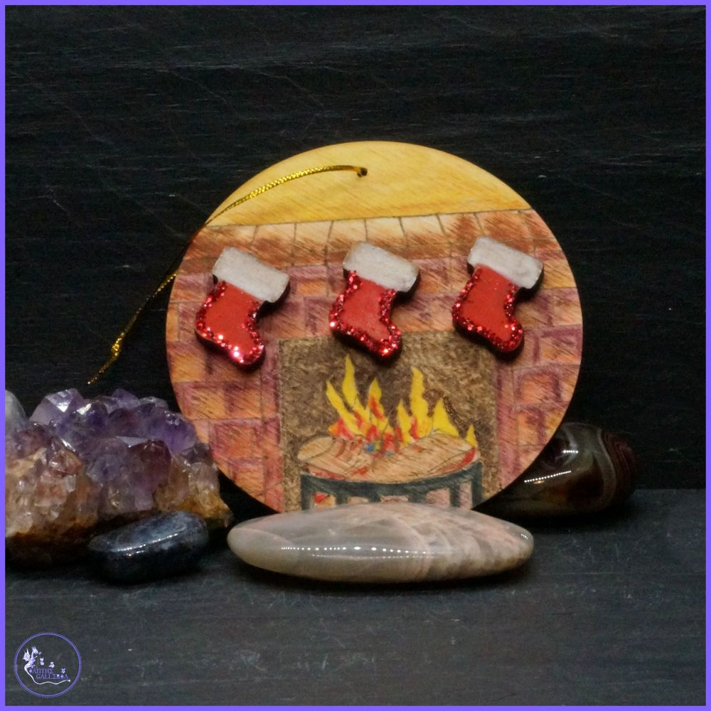 Single Sided Fire Place Tree Decoration.