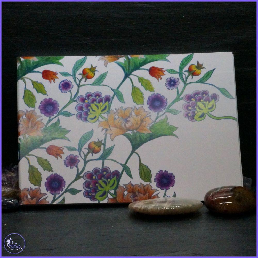 Creeping Flowers Notepad.