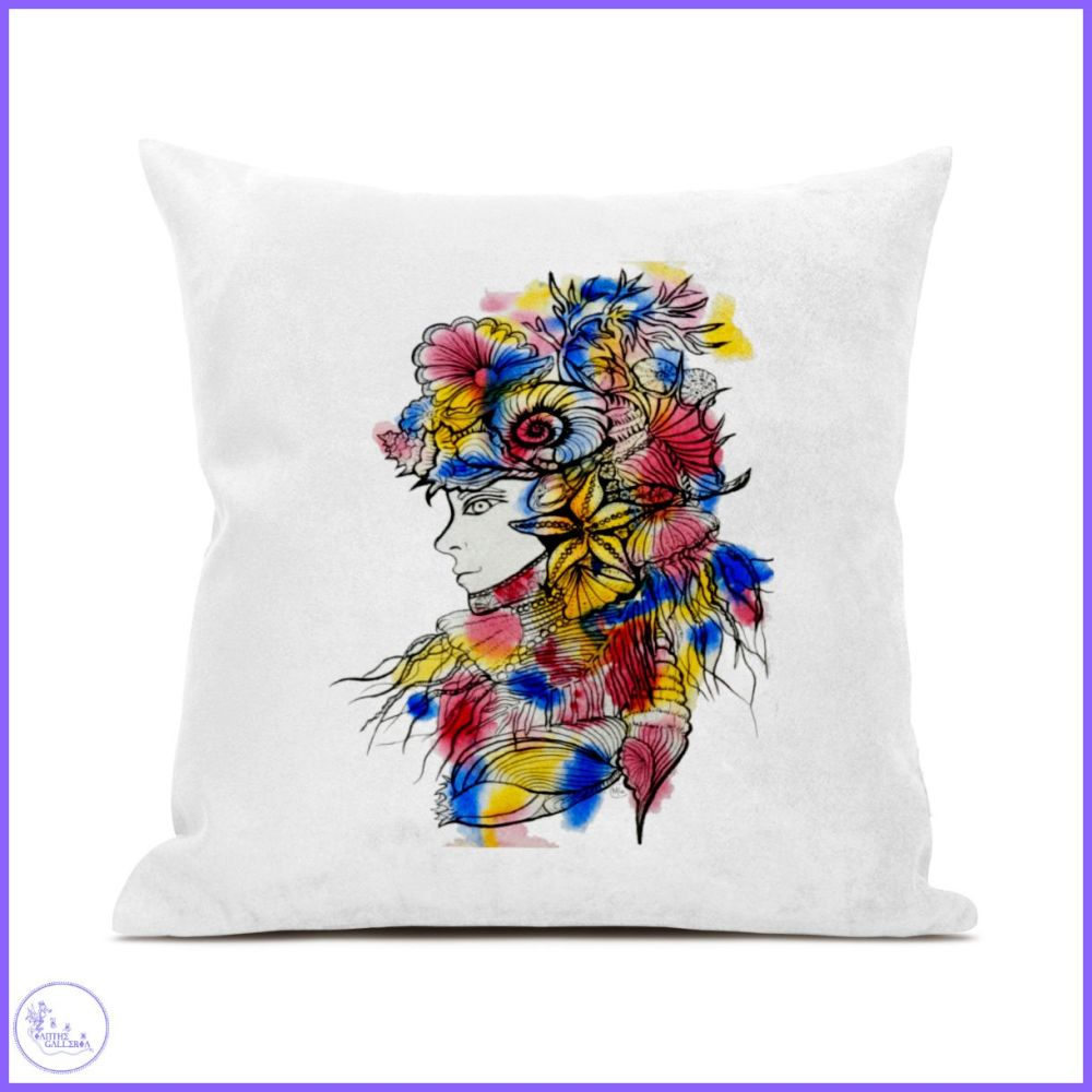 Sea Lady Canvas Cushion.