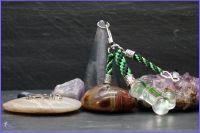 Thin Green Line Personalised Bone Keyring or Bag Charm.