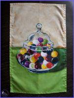 Jar of Marbles Tea Towel.
