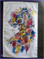 Sea Lady Tea Towel.