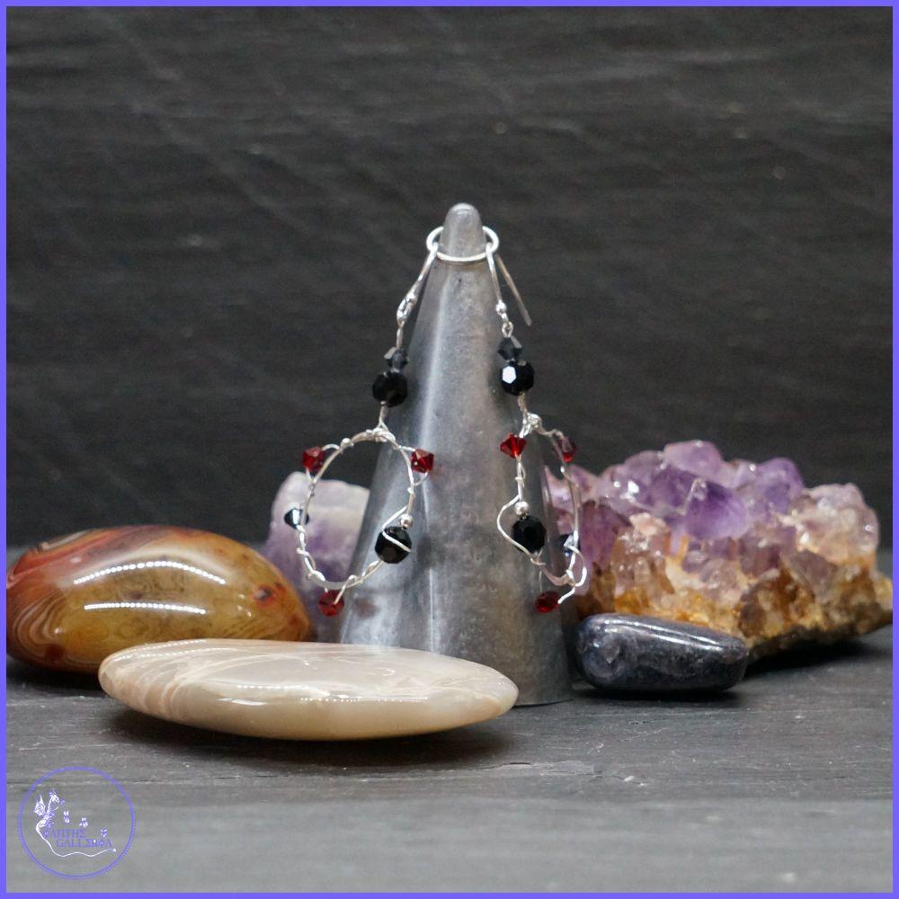 Swarovski Crystal Twisted Sterling Silver Hoops.