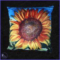 Luxury Sunflower Cushion.