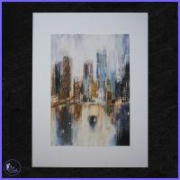 A4 Cityscape Reflections Print.