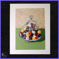 A4 Jar of Marbles Print.