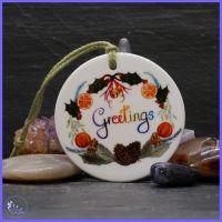 Ceramic Greetings Decoration.