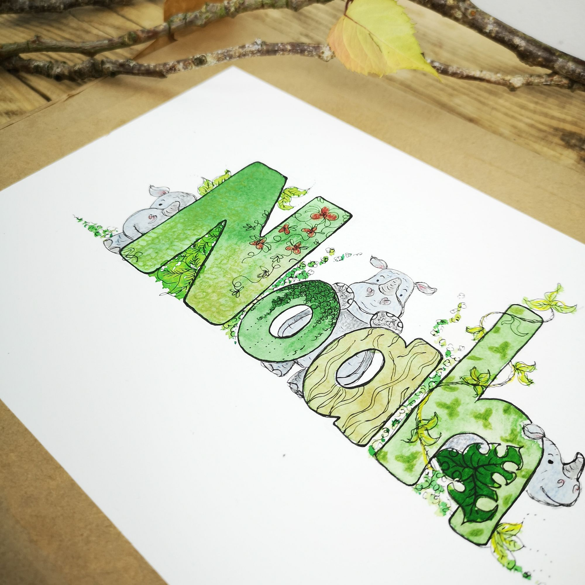 animal name illustration