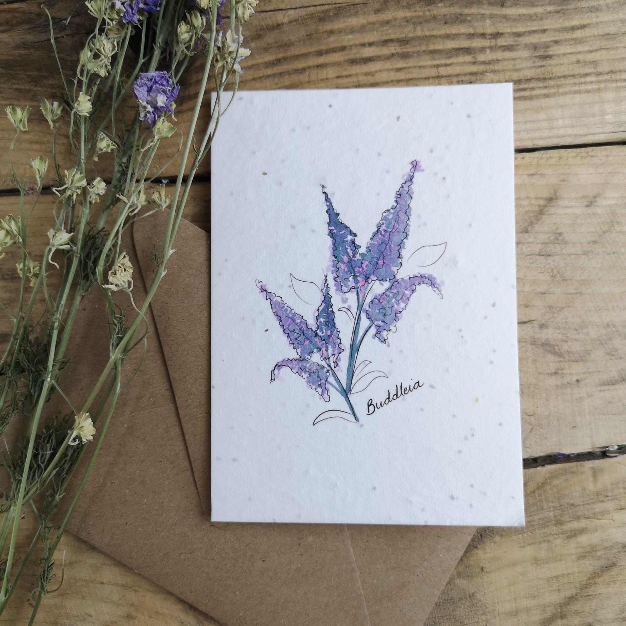 Buddleia on Plantable Seed Paper.jpg