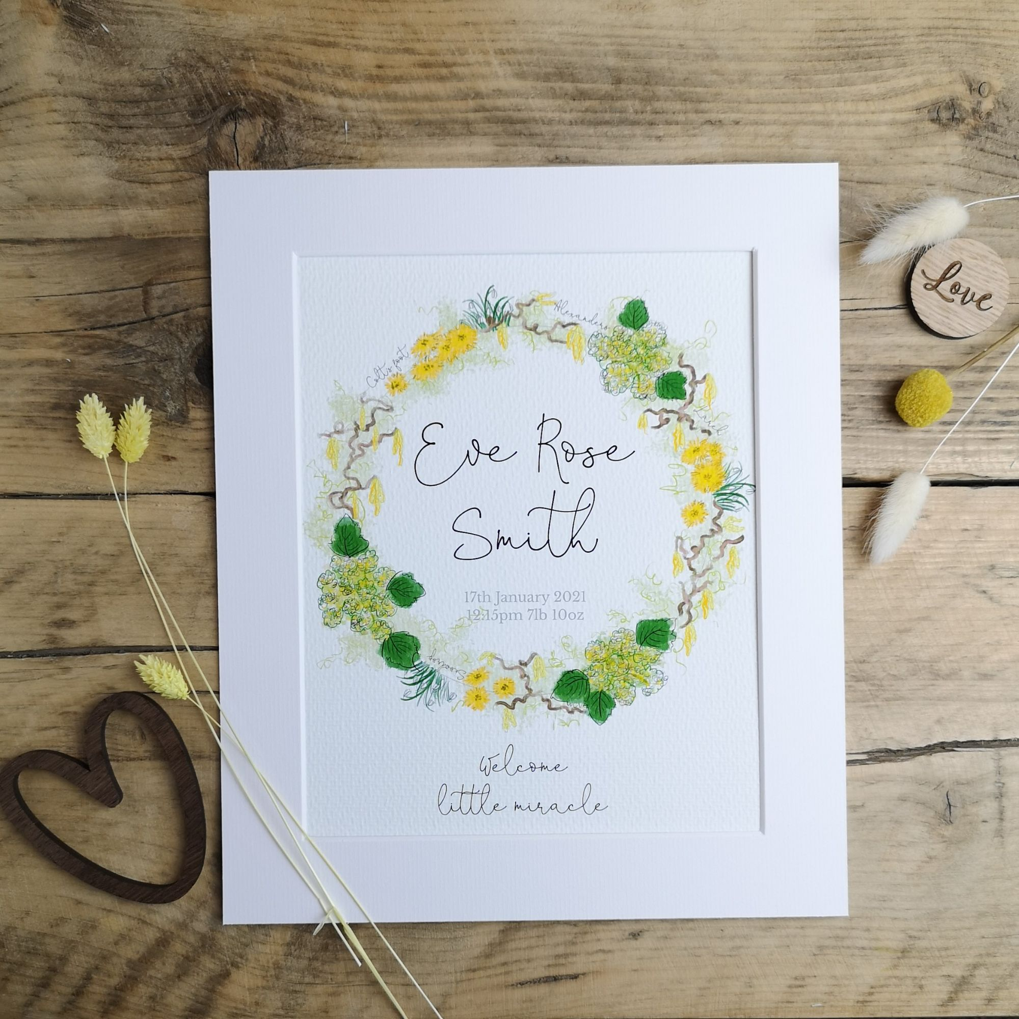 New Baby Spring Wreath