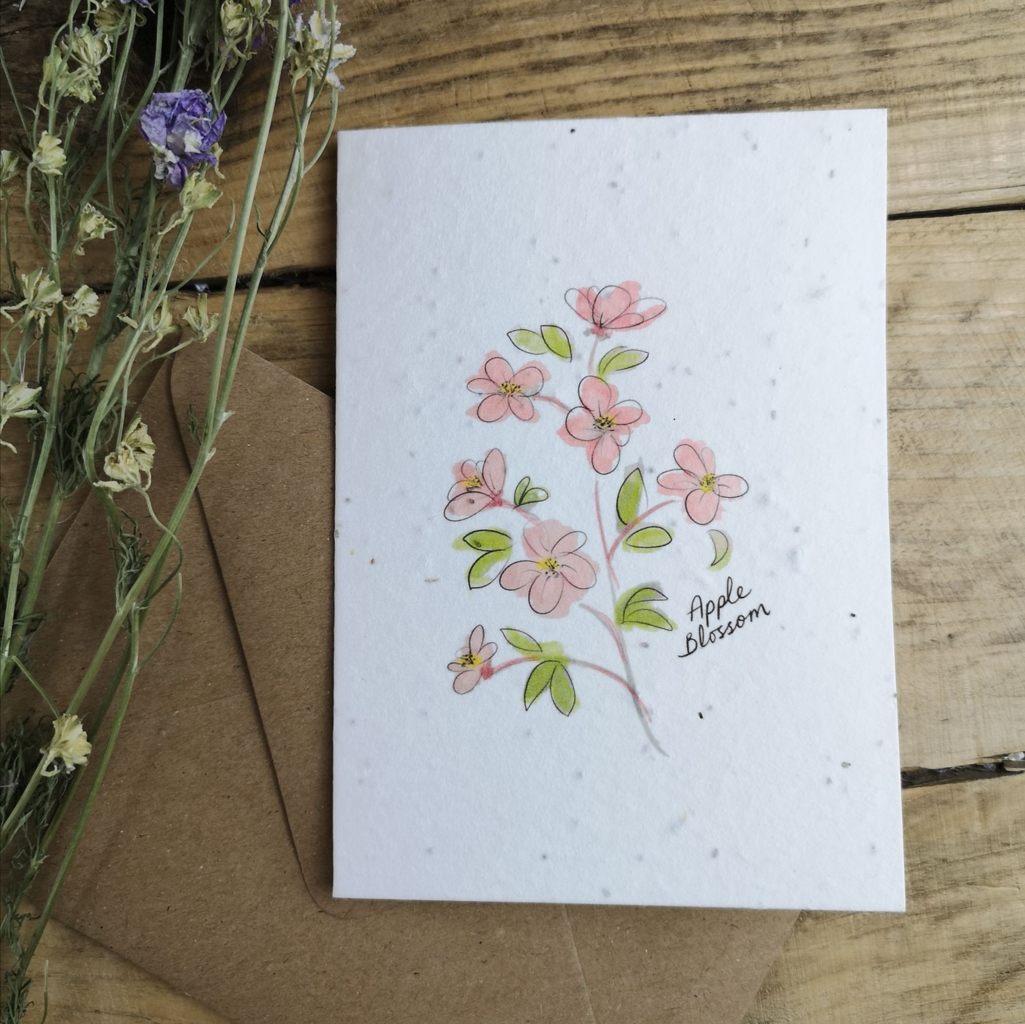 Blossom on Plantable Seed Paper